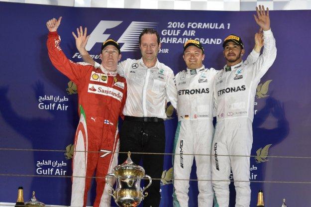 F1 Bahrajn, Rosberg odjeżdża Hamiltonowi