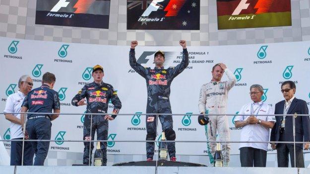 F1 Malezja - Red Bull górą i tylko jeden Mercedes na podium