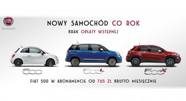 Fiat 500 w abonamencie już od 765 zł