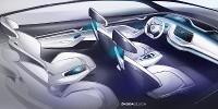 www.moj-samochod.pl - Artykuďż˝ - Elektryczna Skoda Vision E od wnętrza