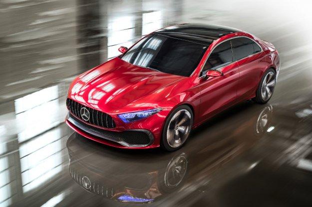 Concept A wizualizacja nowego kompaktowego sedana Mercedesa