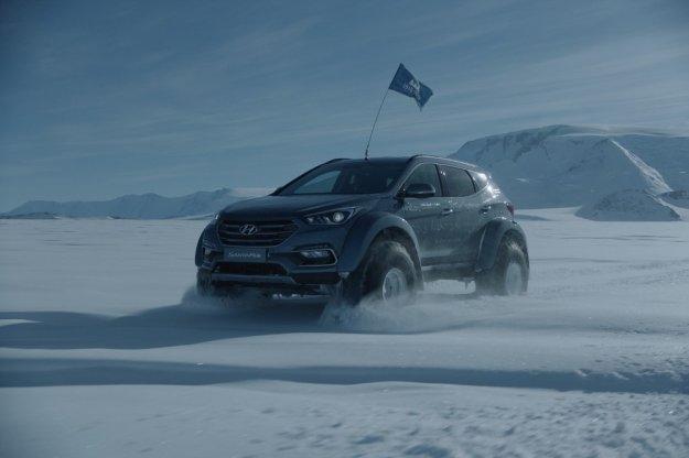 Hyundai podbija Antarktydę modelem Santa Fe