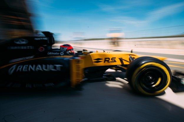 Robert Kubica na testach w Renault