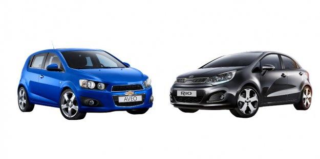 Porównanie Chevrolet Aveo z Kia Rio