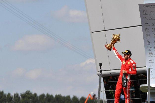 Sebastian Vettel podczas GP Wielkiej Brytanii