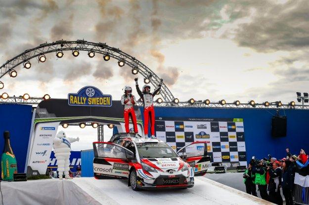 Rajd Szwecji wygrywa kierowca Toyoty Ott Tanak