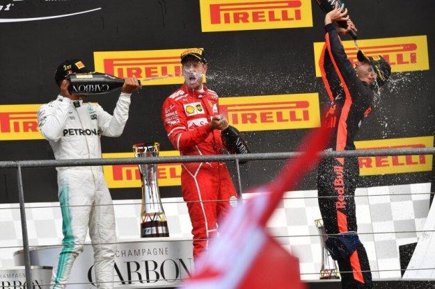 Sebastian Vettel wygrywa na torze w Belgii