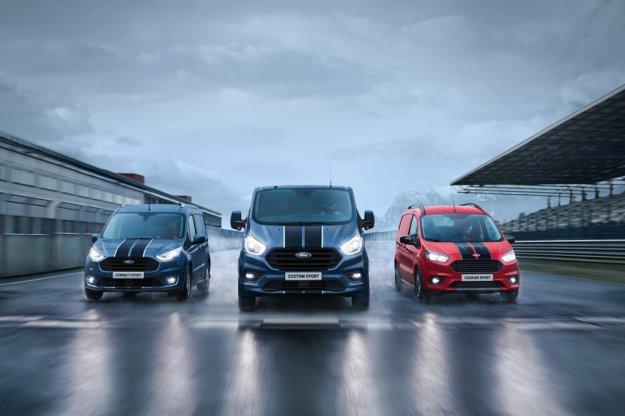 Więcej mocy dla sportowego Vana Ford Transit Custom Sport