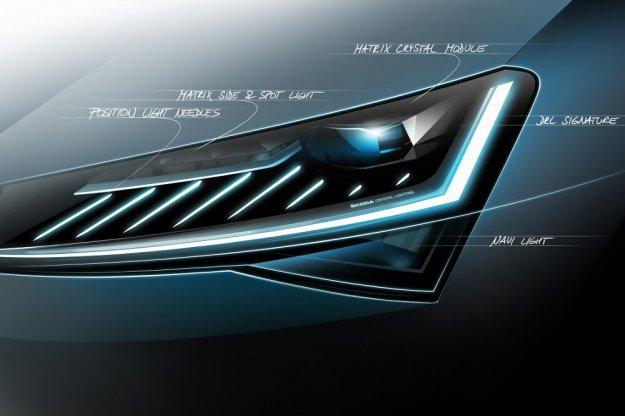 Nowa Skoda Superb z innowacyjnym oświetleniem