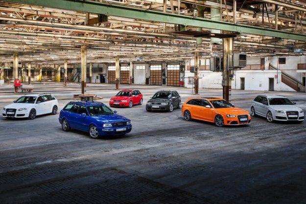 Audi świętuje 25 lat rodziny samochodów RS