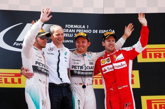 GP Hiszpani, Rosberg przed Hamiltonem